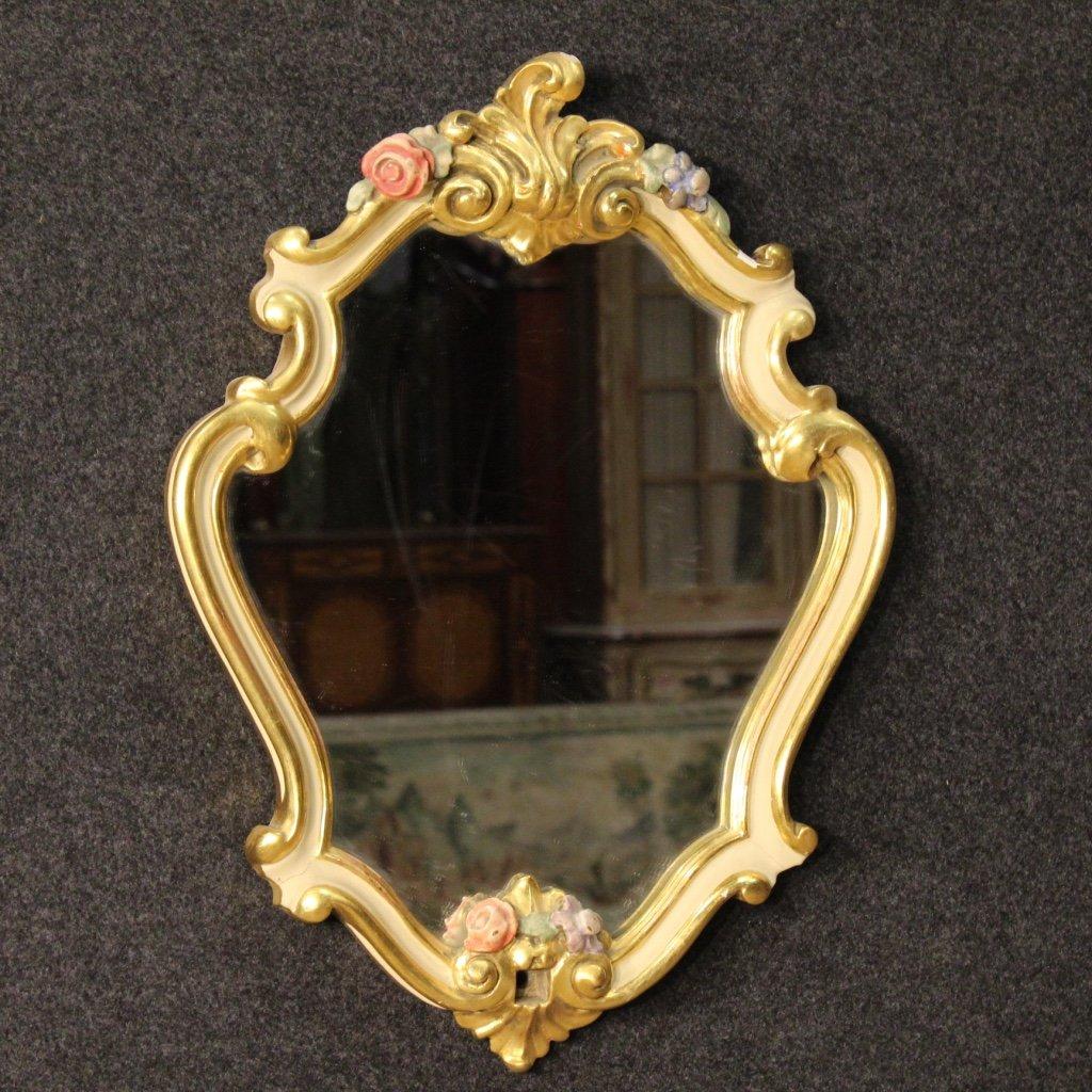 kleine goldene italienische spiegel 4er set bei pamono kaufen. Black Bedroom Furniture Sets. Home Design Ideas