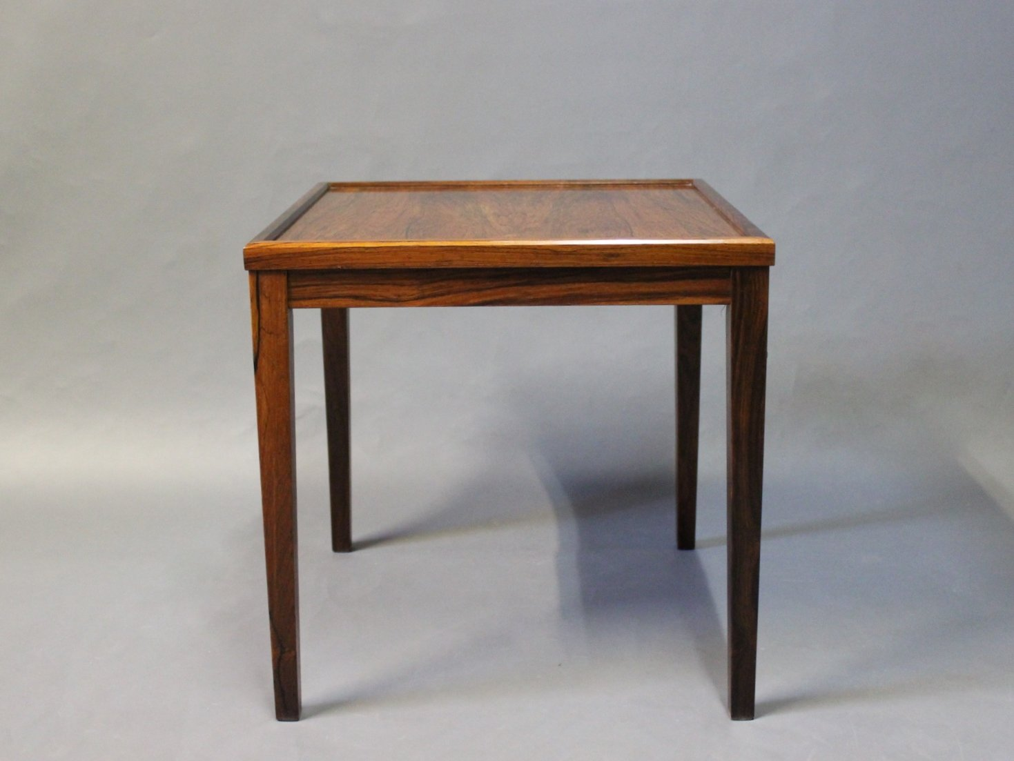 Awesome Small Danish Side Table In Rosewood, 1960s