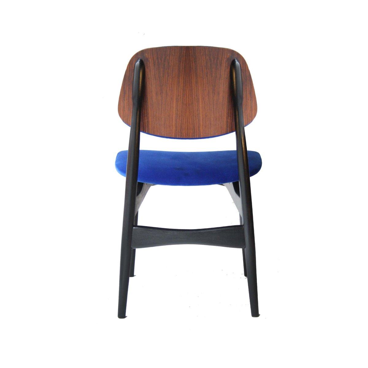blaue italienische vintage st hle 4er set bei pamono kaufen. Black Bedroom Furniture Sets. Home Design Ideas