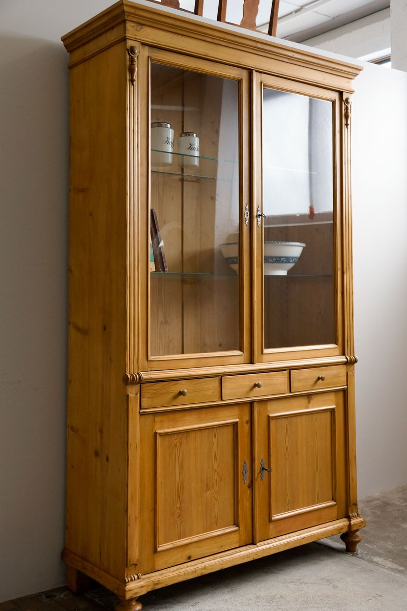 Large Antique Display Cabinet For Sale At Pamono