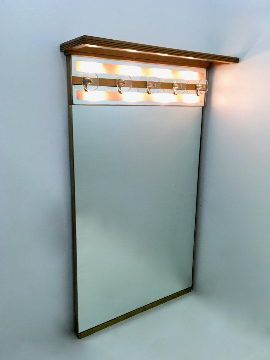 Attaccapanni vintage illuminato con specchio italia in for Attaccapanni vintage