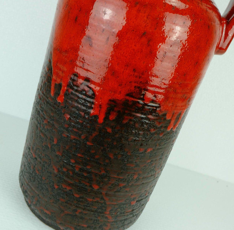 gro e vintage vase mit roter tropfenglasur von carstens. Black Bedroom Furniture Sets. Home Design Ideas