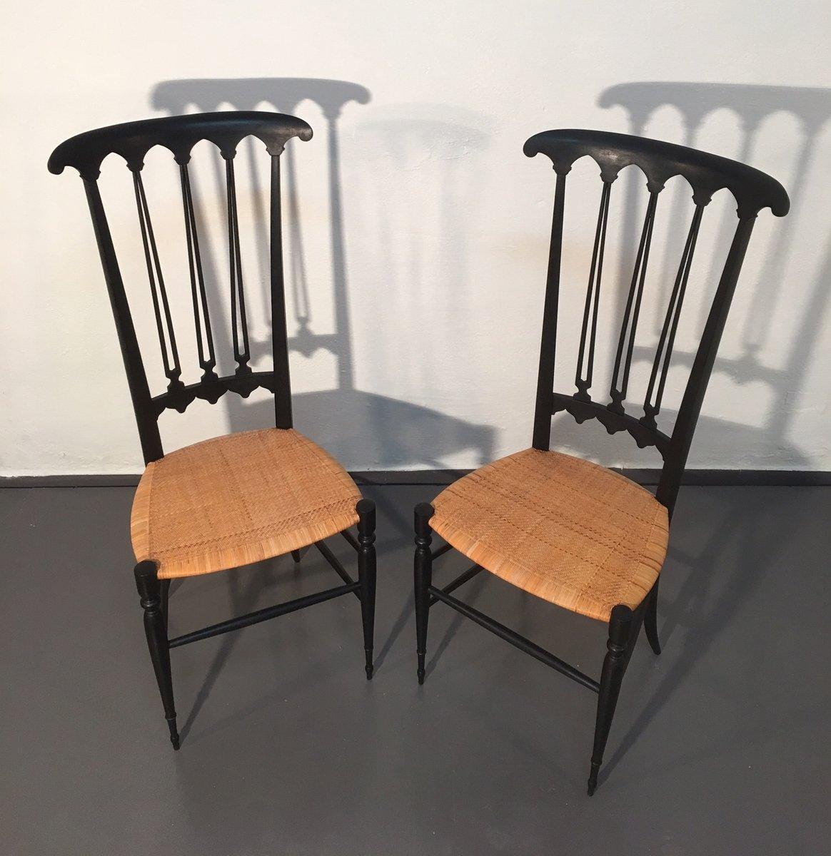 schwarze mid century chiavari st hle 2er set bei pamono kaufen. Black Bedroom Furniture Sets. Home Design Ideas