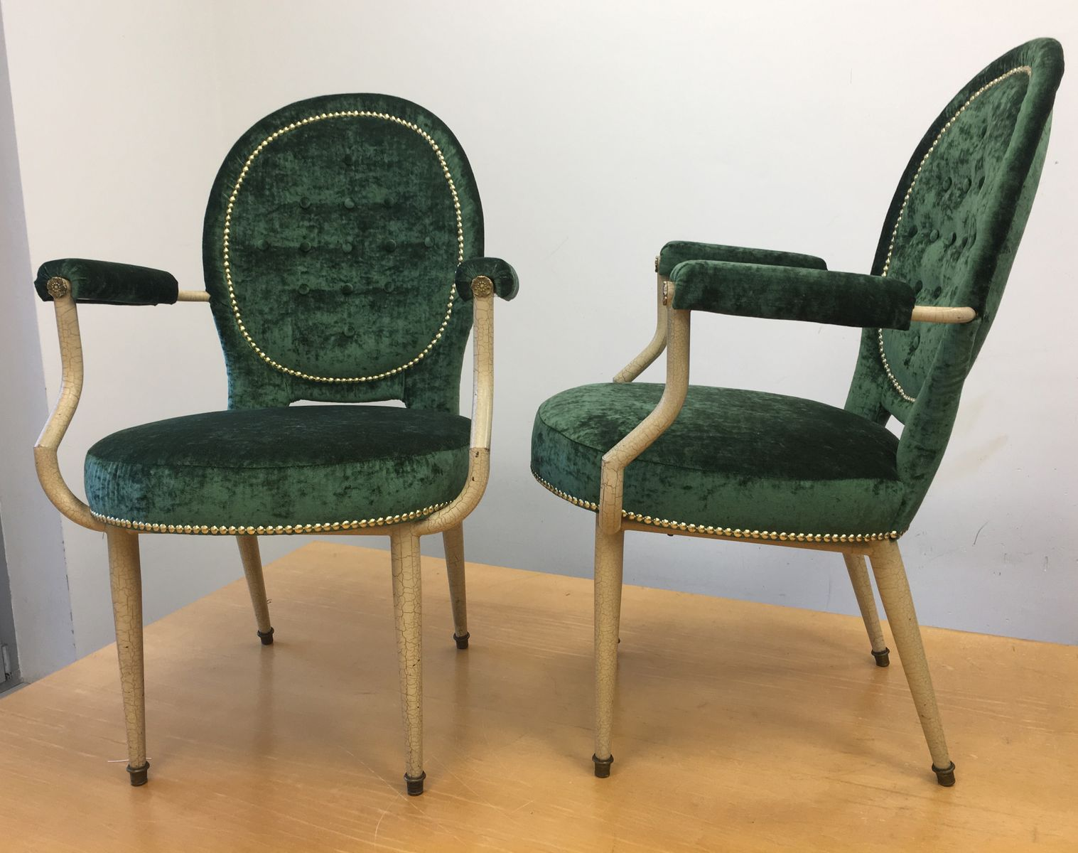 Art deco medaillon armchairs set of 2 for sale at pamono for 2 armchairs for sale