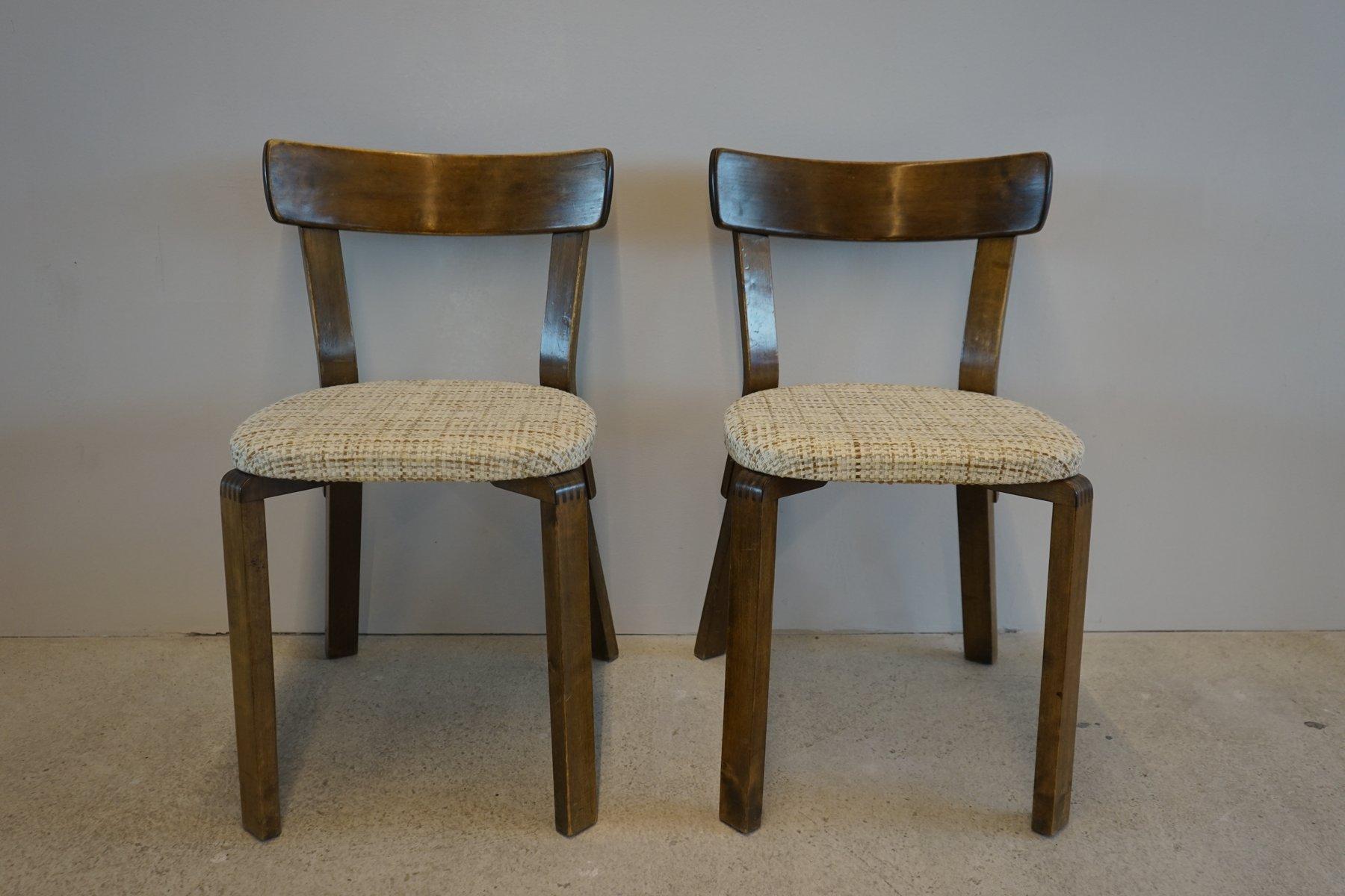 Prewar Chair 69 by Alvar Aalto for Artek 1940s for sale at Pamono