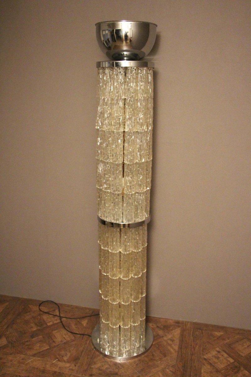 italienische mid century stehlampe in wei silber. Black Bedroom Furniture Sets. Home Design Ideas