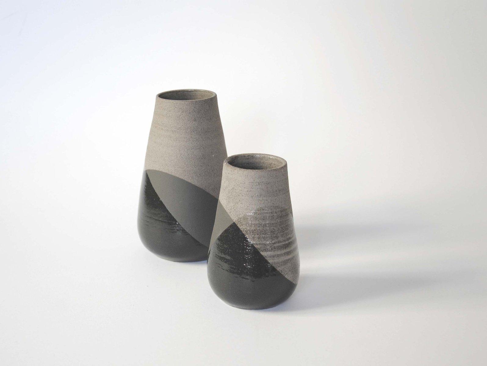 grand vase gris et noir par anbo design pour anja borgersrud en vente sur pamono. Black Bedroom Furniture Sets. Home Design Ideas