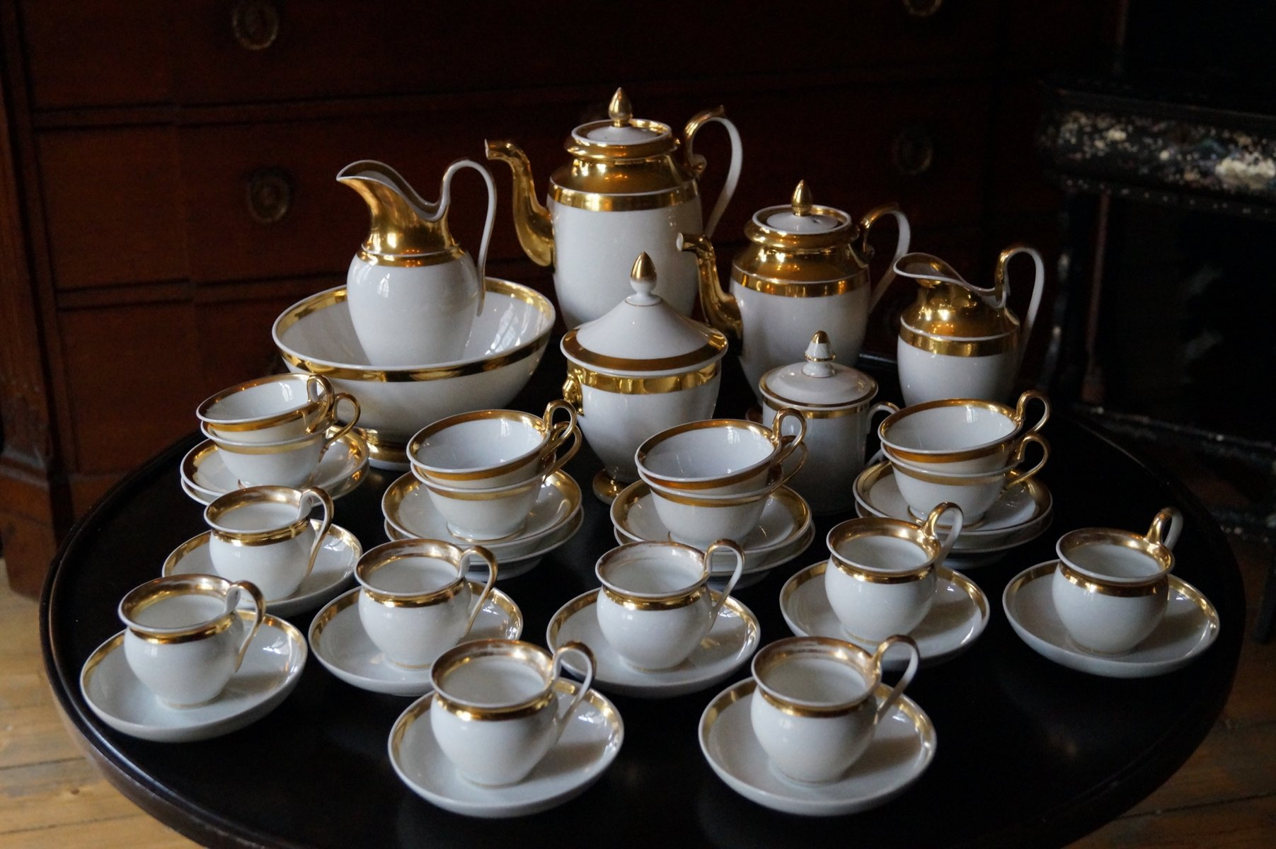 Antique Parisienne Empire Porcelain Coffee Tea Service Set Of 39 For At Pamono