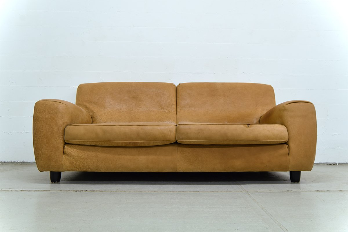Charmant Vintage Italian Leather Sofa From Molinari For Sale At Pamono