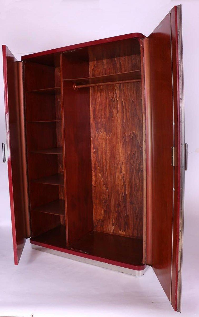 vintage bauhaus garderobe von rudolf vichr bei pamono kaufen. Black Bedroom Furniture Sets. Home Design Ideas