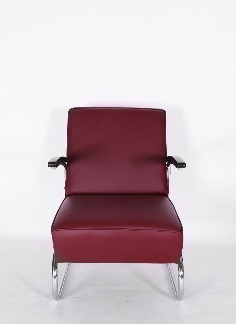Vintage bauhaus steel tube club chair from mauser for sale for Vintage fliesen bauhaus