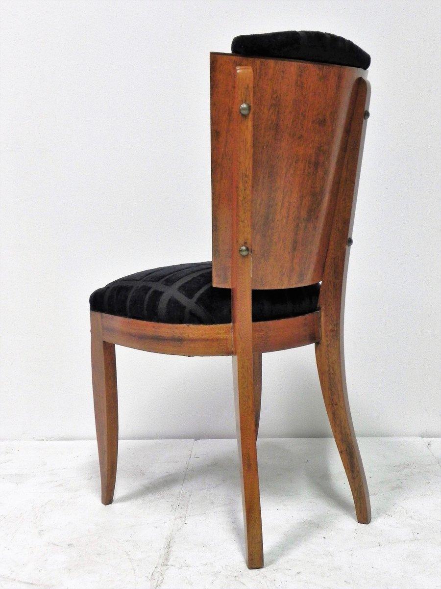 schwarze art deco st hle mit samtbez gen 6er set bei. Black Bedroom Furniture Sets. Home Design Ideas