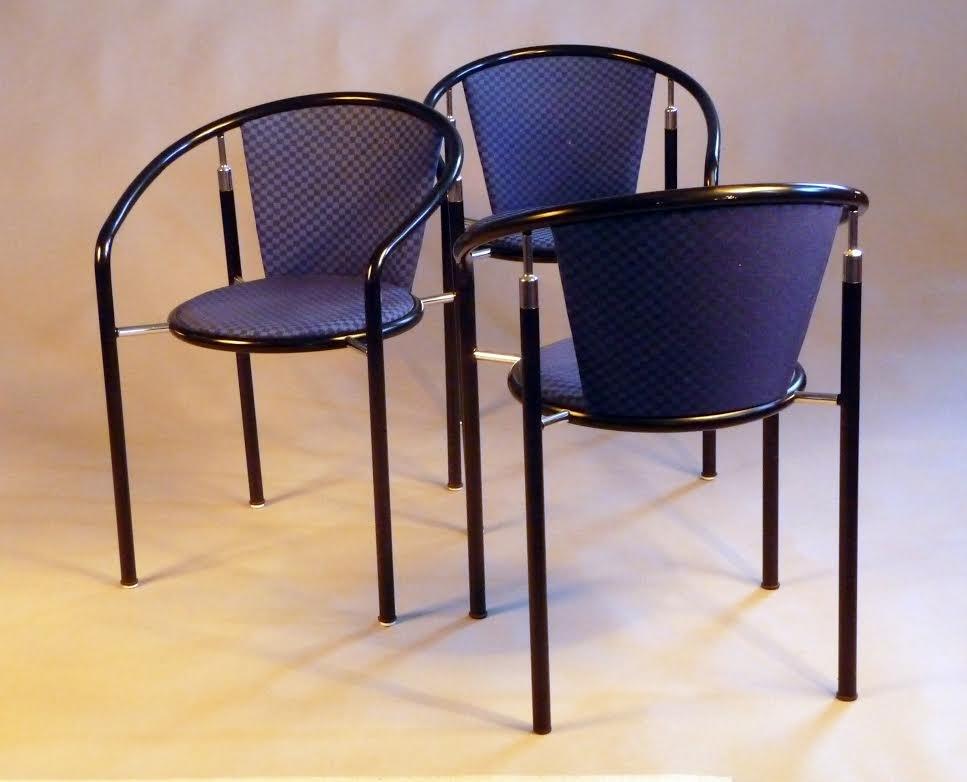 Awesome Dark Horse Dining Chairs By Rud Thygesen U0026 Johnny Sørensen For Botium,  1980s, Set Of 3