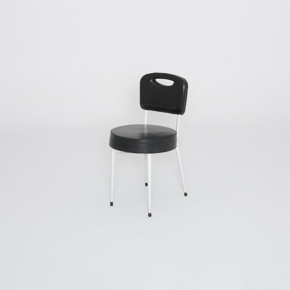 vintage stuhl in schwarz wei von der longchamp pferderennbahn 1950er bei pamono kaufen. Black Bedroom Furniture Sets. Home Design Ideas