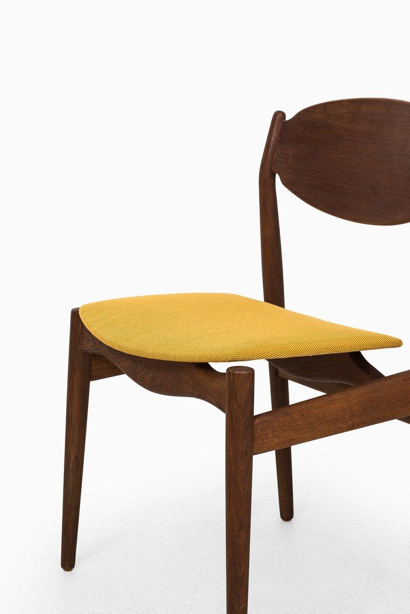 Chaise de salle manger en teck et en ch ne par erik buck for Salle a manger en teck