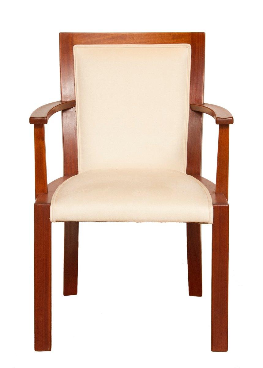 art deco walnuss armlehnstuhl 1930er bei pamono kaufen. Black Bedroom Furniture Sets. Home Design Ideas