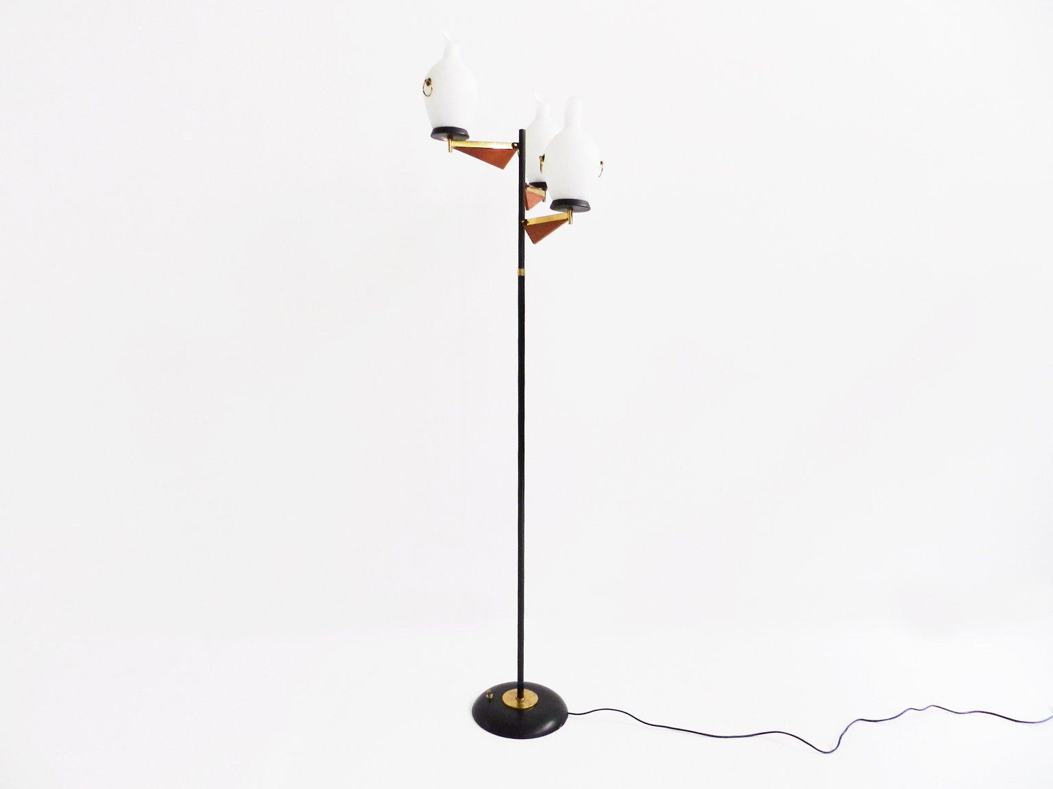 italienische stehlampe in gold rot schwarz wei von. Black Bedroom Furniture Sets. Home Design Ideas