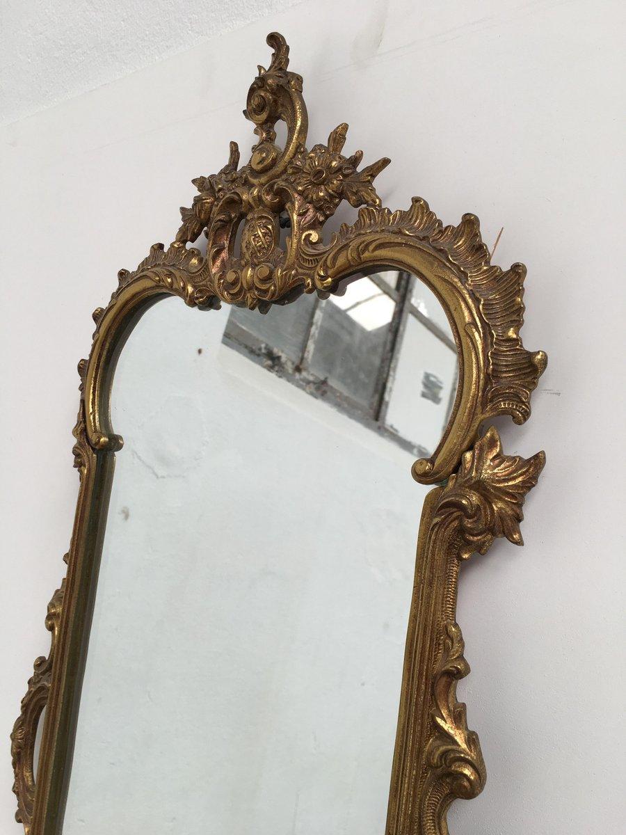 Consolle con specchio antico in ottone e marmo rosa for Specchio antico rovinato