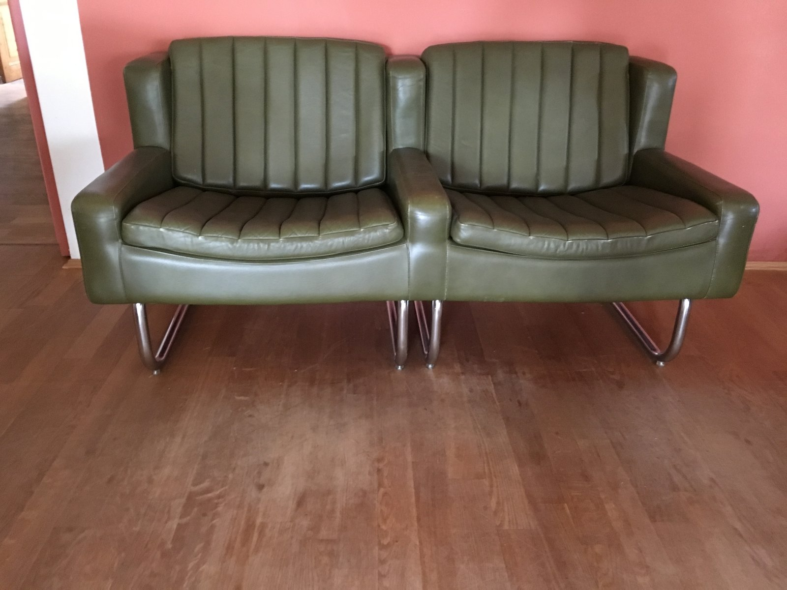 vintage freischwinger sessel sofa set von asko bei. Black Bedroom Furniture Sets. Home Design Ideas