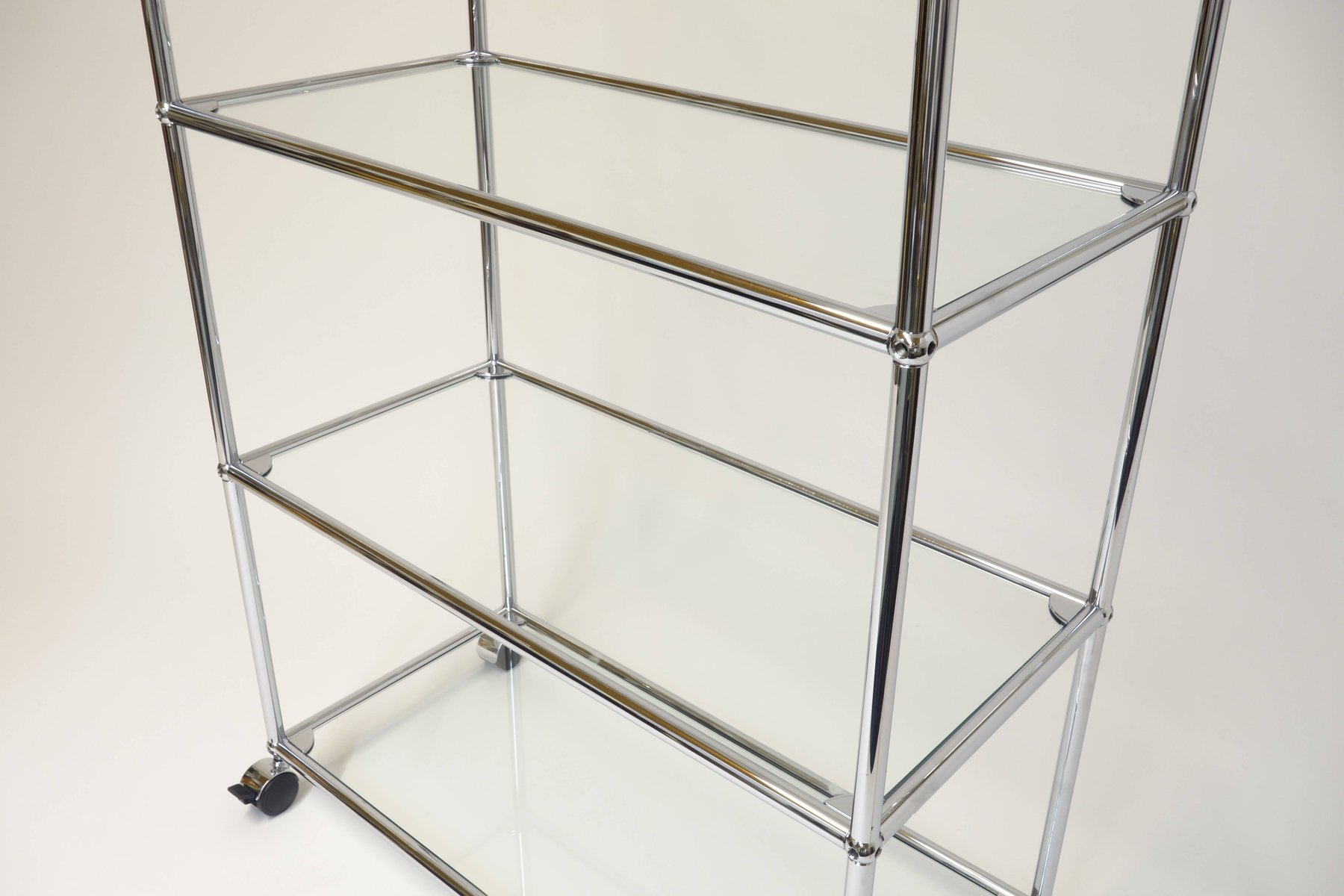 Glass Shelving Unit By Fritz Haller For USM Haller, 1985 Good Ideas