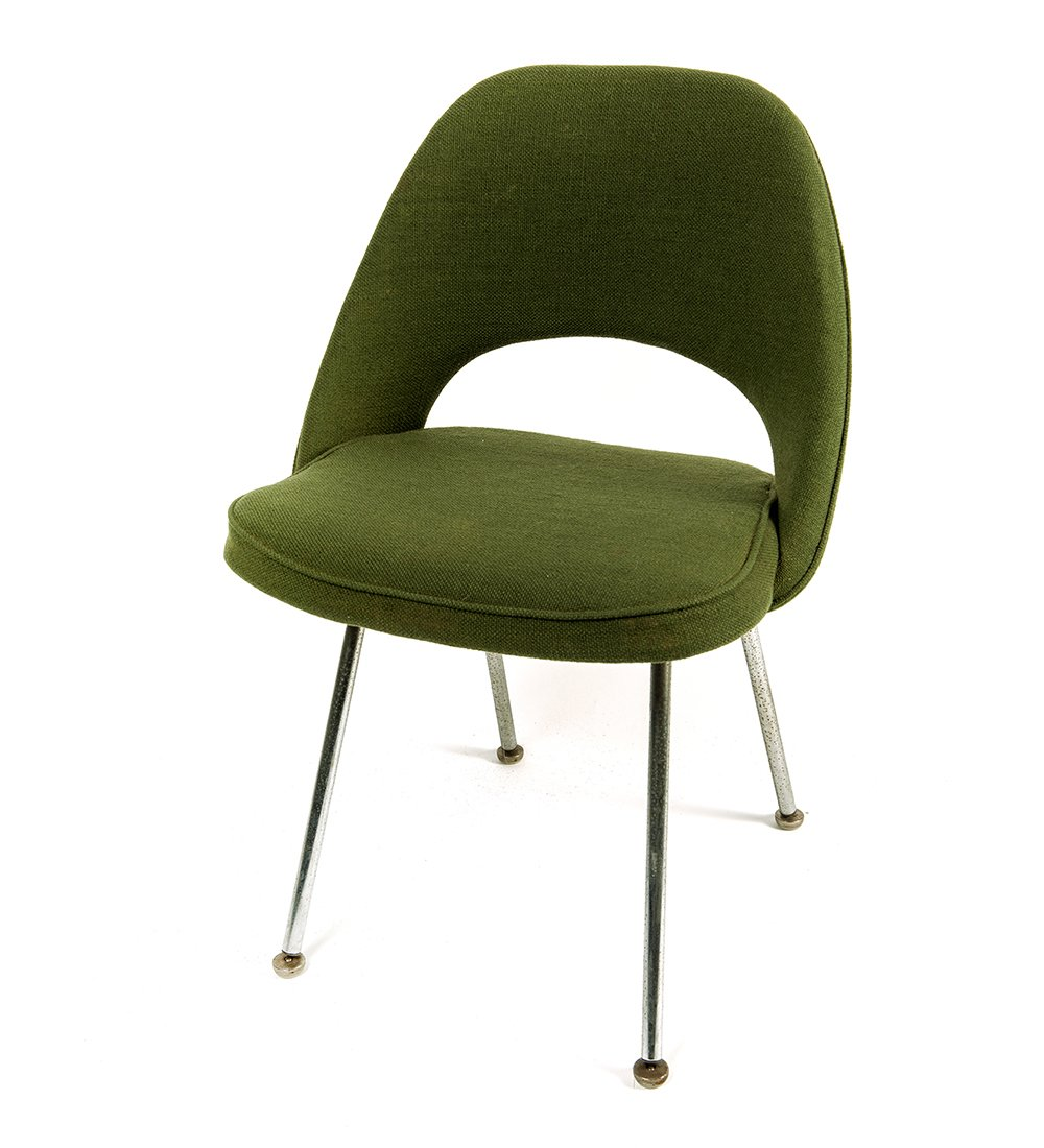 Mid century green executive side chair by eero saarinen for 5 5 designers chaise
