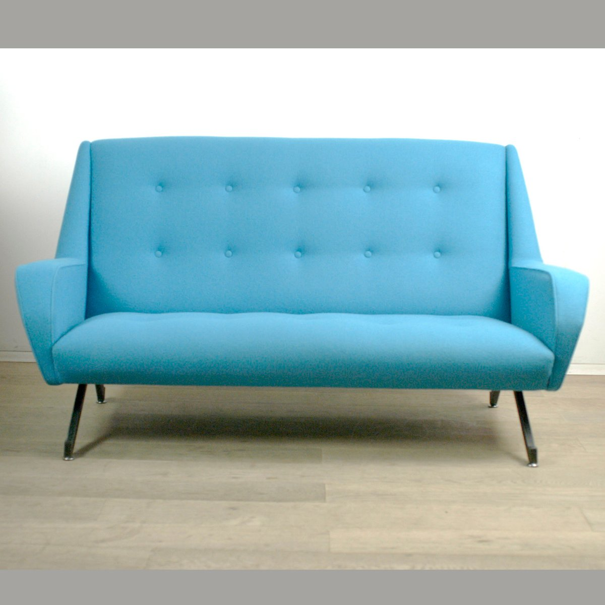 Turquoise Italian Two Seater Sofa 1950s For Sale At Pamono