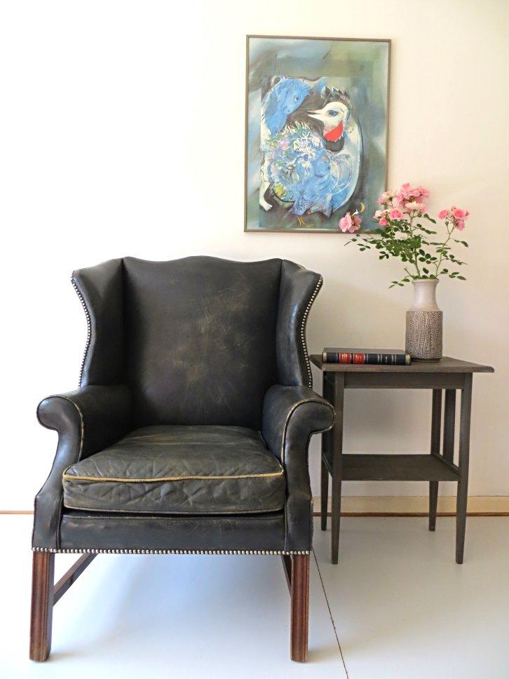 englischer art deco chesterfield sessel bei pamono kaufen. Black Bedroom Furniture Sets. Home Design Ideas