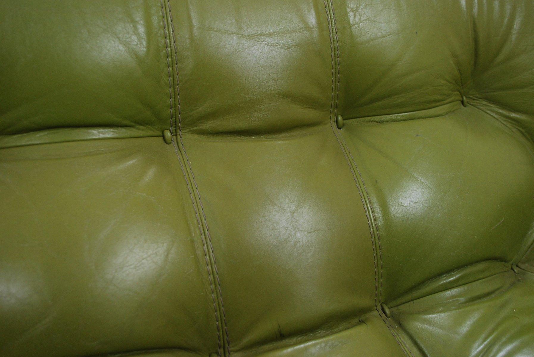 lindgr nes modell mp 041 ledersofa von percival lafer 1961 bei pamono kaufen. Black Bedroom Furniture Sets. Home Design Ideas