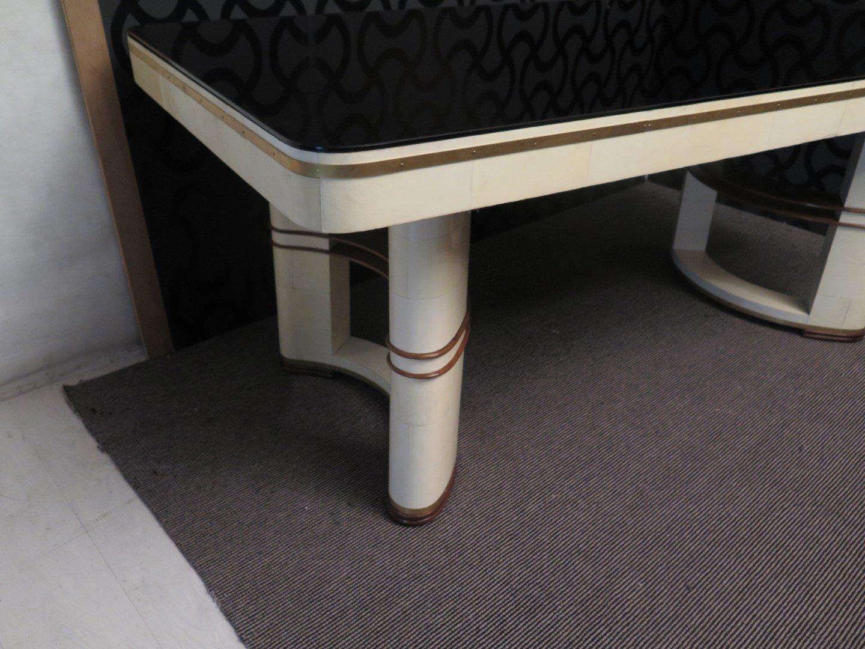 italienischer tisch mit schwarzer glasplatte 1930er bei. Black Bedroom Furniture Sets. Home Design Ideas