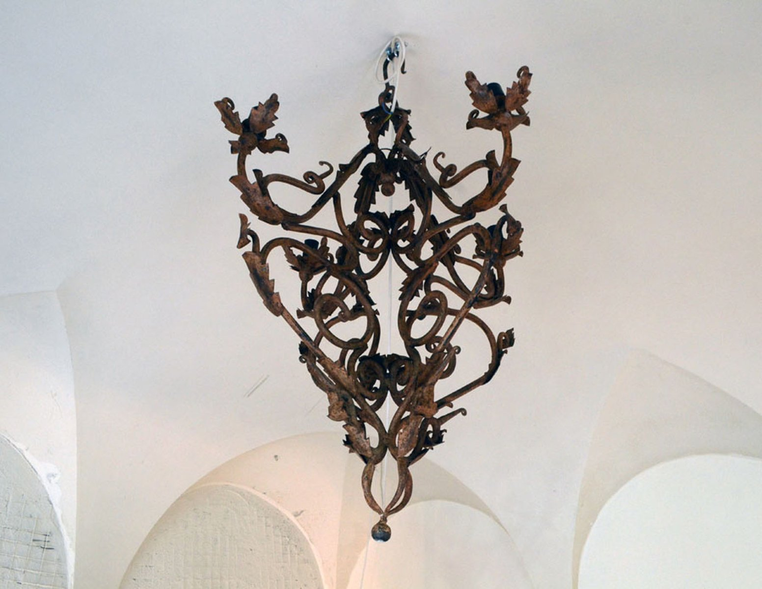 Hand made wrought iron chandelier 1800s for sale at pamono hand made wrought iron chandelier 1800s mozeypictures Gallery