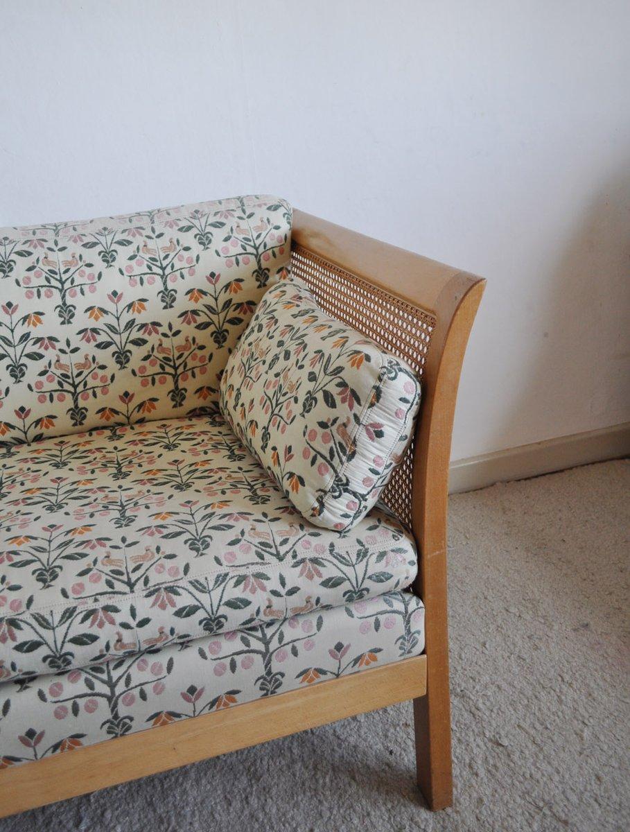 vintage rattan zwei sitzer sofa von arne norell bei pamono kaufen. Black Bedroom Furniture Sets. Home Design Ideas