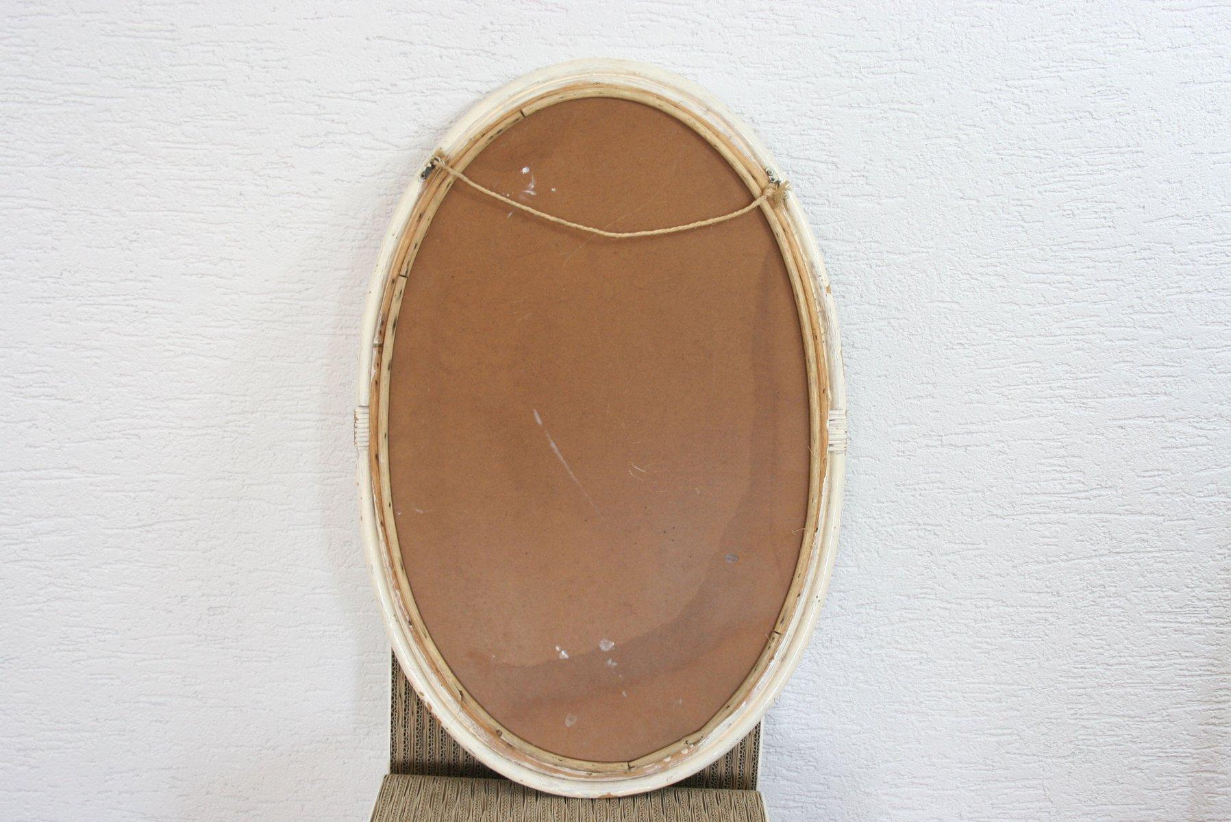 gro er vintage spiegel in sonnen optik mit rattan rahmen bei pamono kaufen. Black Bedroom Furniture Sets. Home Design Ideas