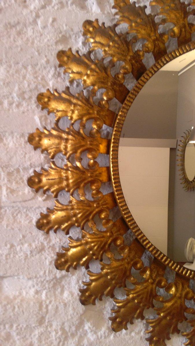 Spanish golden sun mirror 1950s for sale at pamono spanish golden sun mirror 1950s arubaitofo Image collections