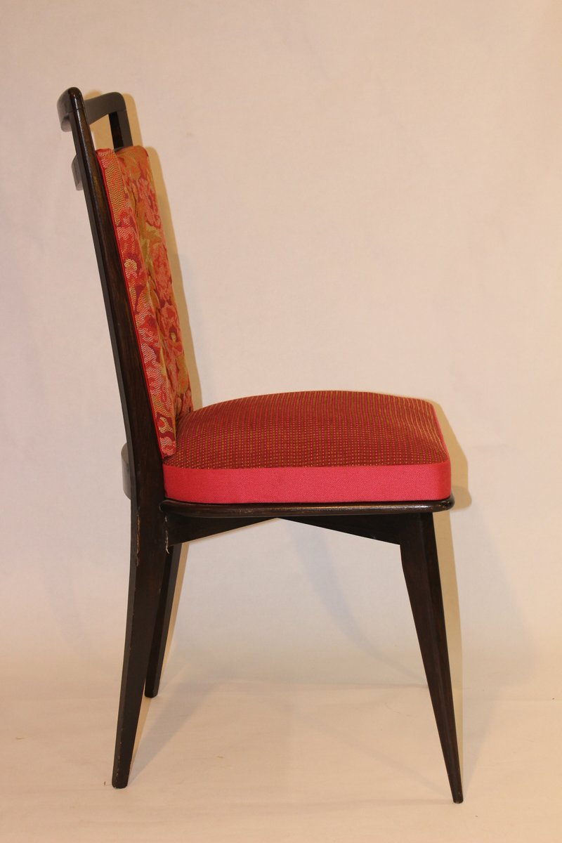 Vintage side chairs upholstered in kenzo fabric set of 2 for Side chairs for sale