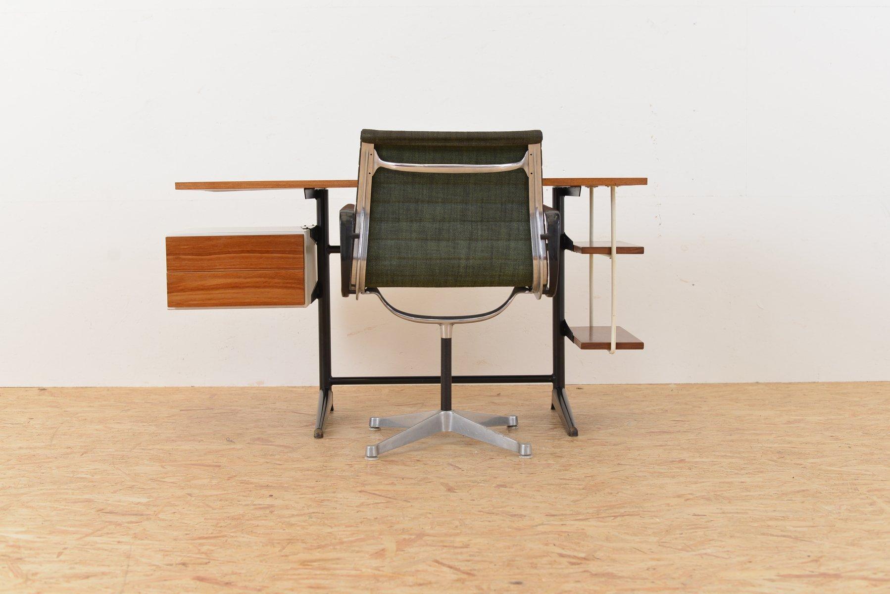 industrieller mid century schreibtisch von marko bei. Black Bedroom Furniture Sets. Home Design Ideas