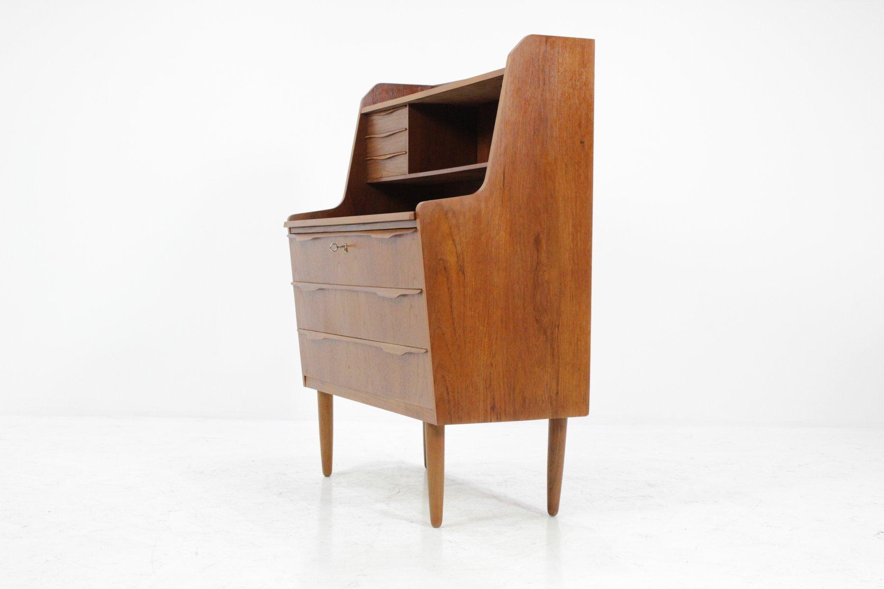 d nischer mid century teak sekret r mit aufbewahrung 1960er bei pamono kaufen. Black Bedroom Furniture Sets. Home Design Ideas