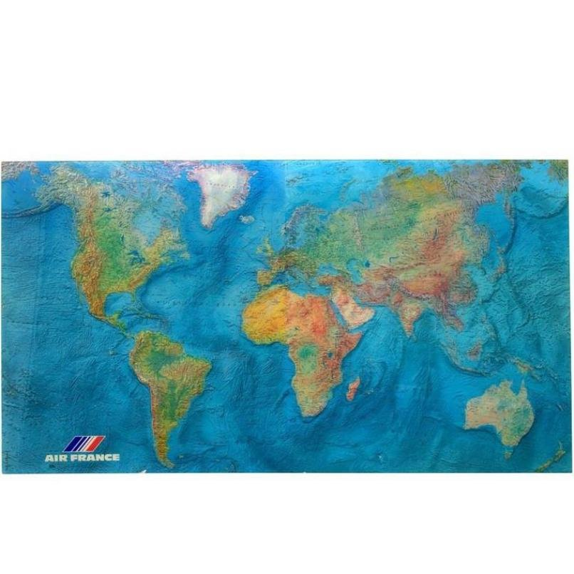 Vintage acrylic world map by m morel for air france 1980 for price per piece gumiabroncs Choice Image