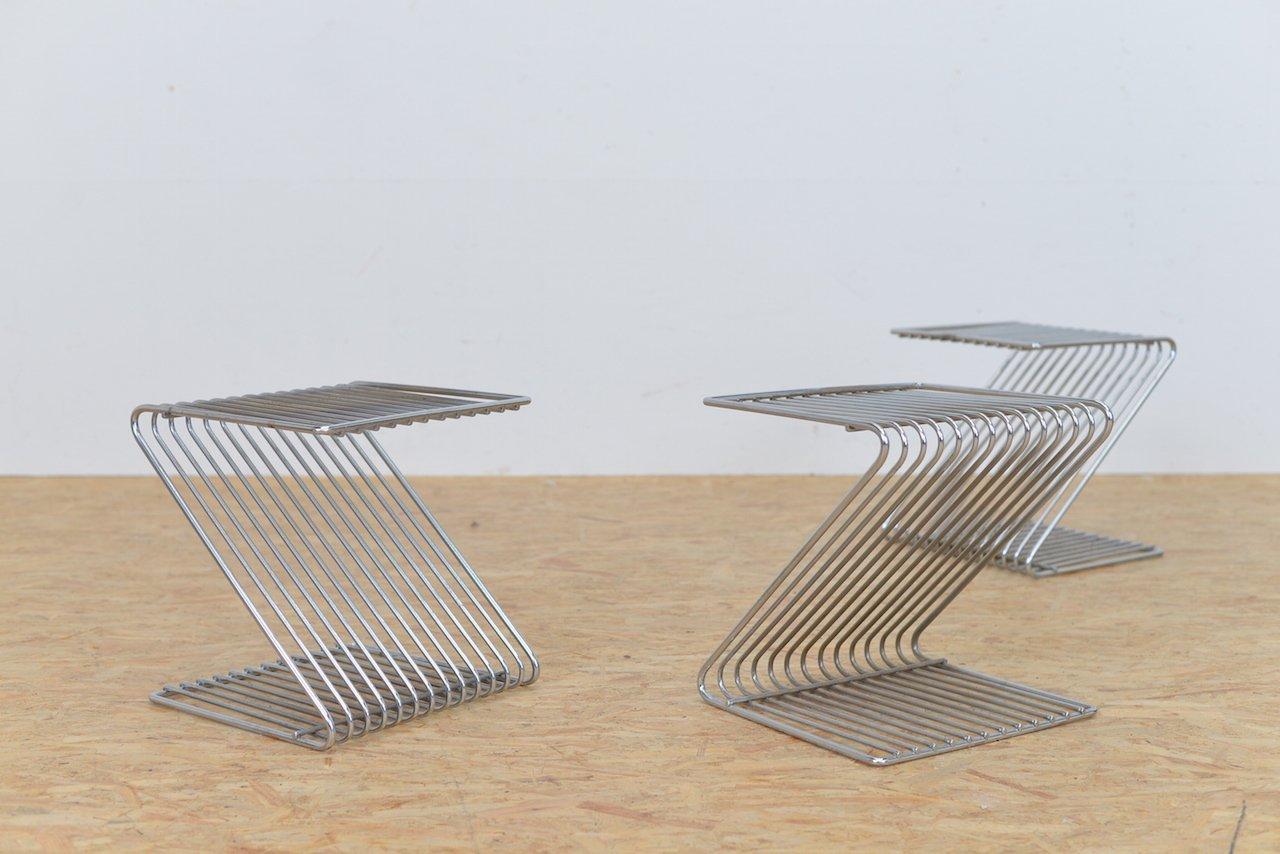 Z metall beistelltische von atelier a paris 3er set bei for Beistelltische 3er set modern