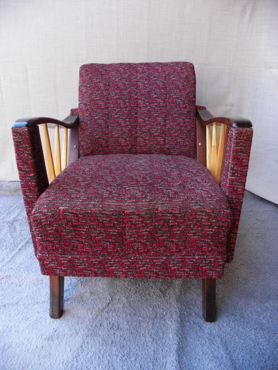 Superb Vintage Purple Armchair, 1950s For Sale At Pamono
