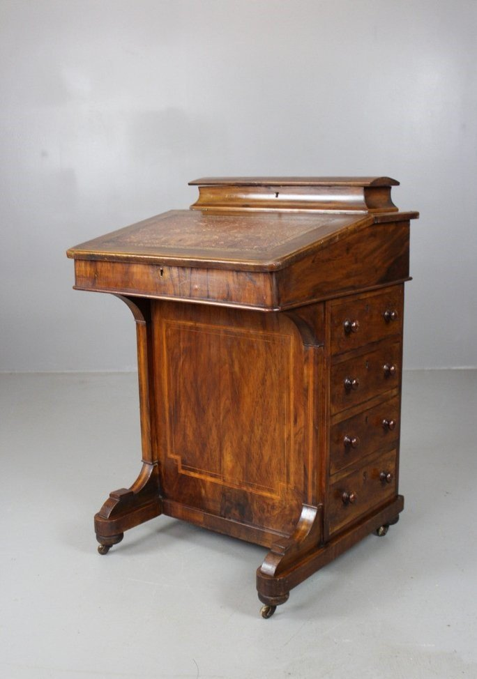 - Antique Victorian Walnut Davenport Desk For Sale At Pamono