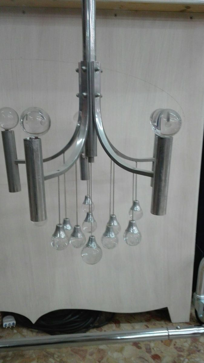 Chandelier With Murano Glass Beads 1970s For Sale At Pamono