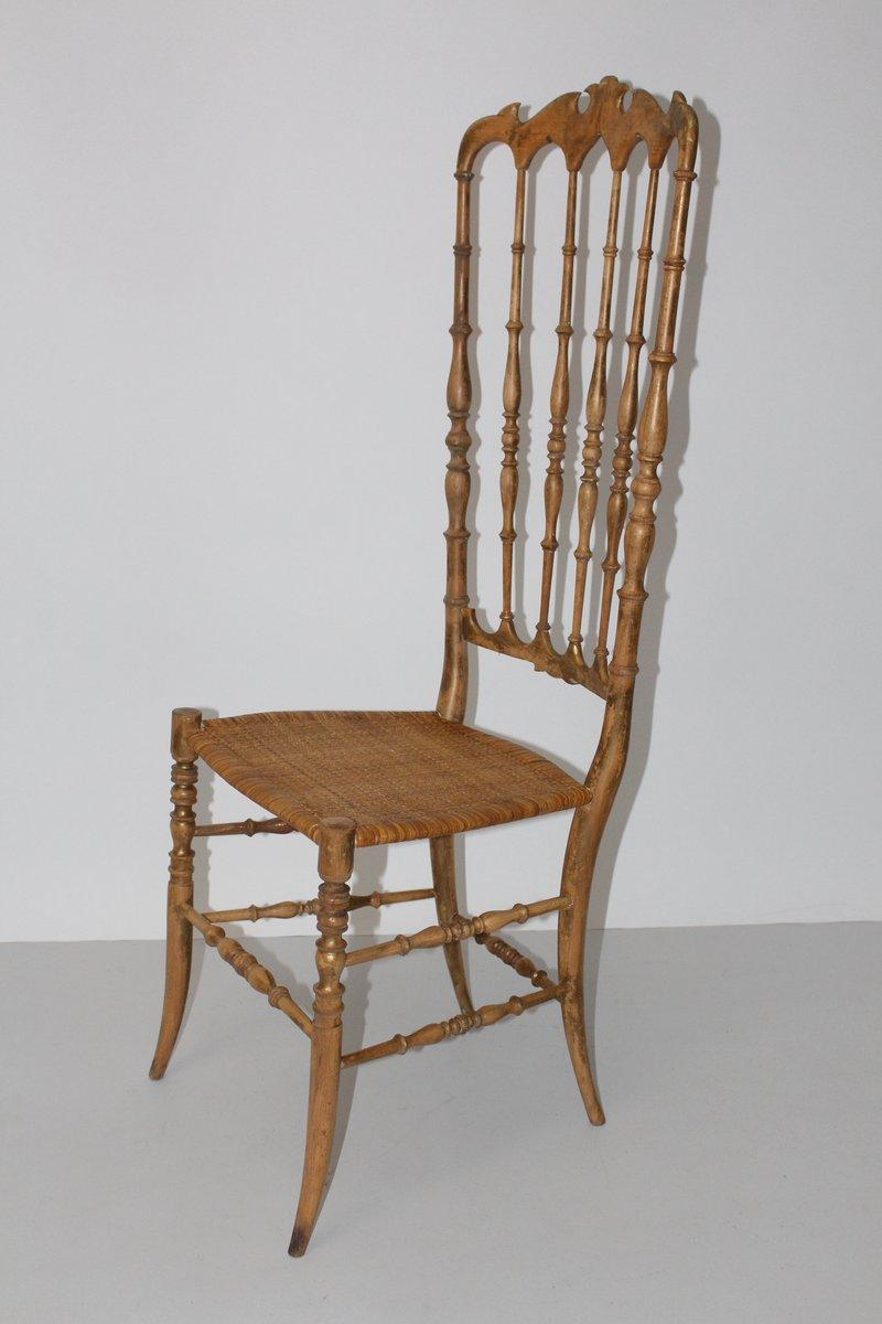 Sedia a schienale alto di chiavari anni 39 40 in vendita su - Schienale sedia ...