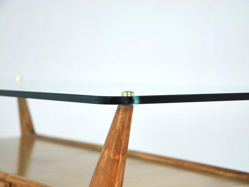 italienischer konsolentisch aus holz glas 1940er bei pamono kaufen. Black Bedroom Furniture Sets. Home Design Ideas