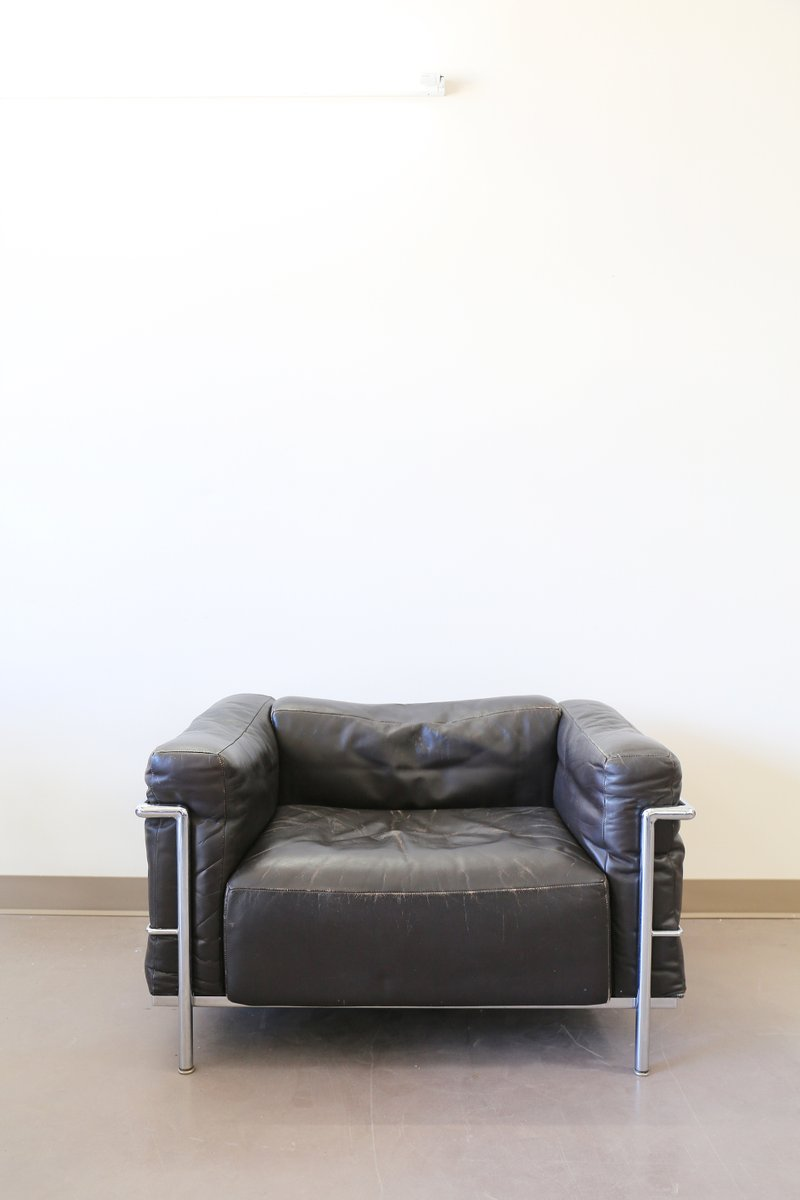 vintage lc3 grand confort sessel von le corbusier f r cassina bei pamono kaufen. Black Bedroom Furniture Sets. Home Design Ideas