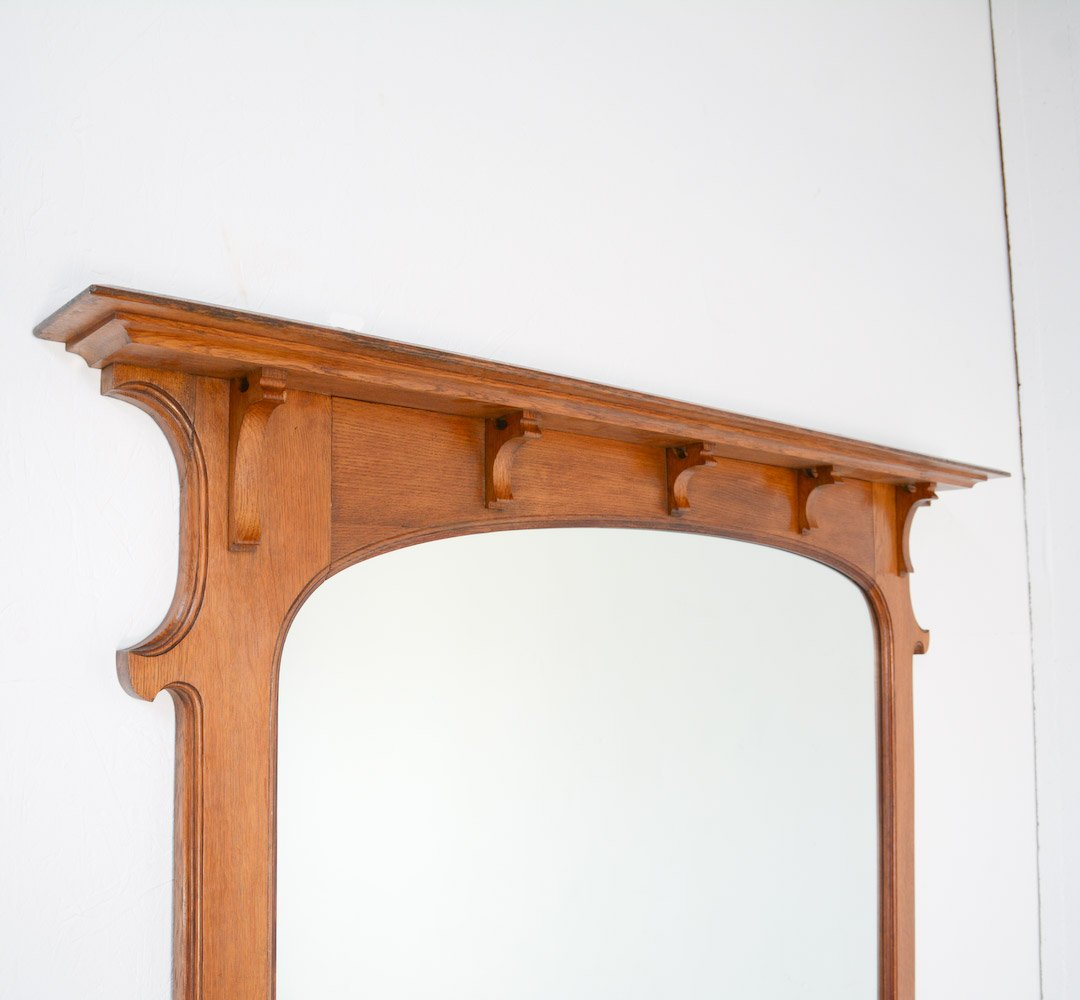 art nouveau mirror with console for sale at pamono. Black Bedroom Furniture Sets. Home Design Ideas