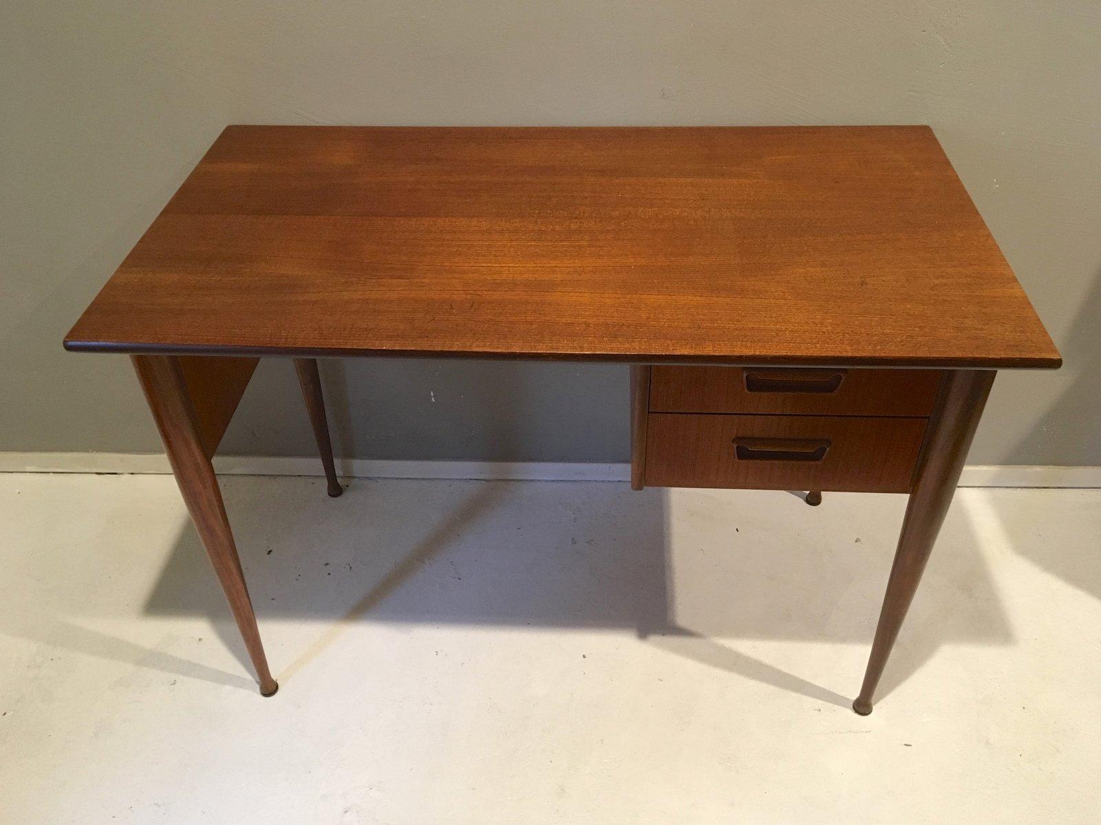 skandinavischer mid century teak schreibtisch bei pamono kaufen. Black Bedroom Furniture Sets. Home Design Ideas