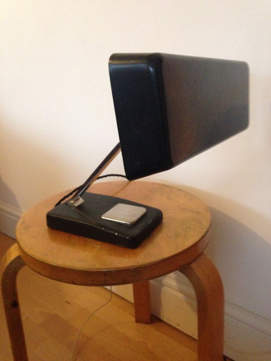 Black German Desk Lamp By Egon Hillebrand For 1960s