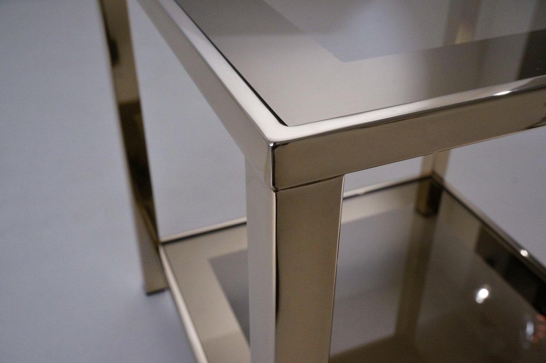 belgischer vergoldeter 23 karat beistelltisch mit ablage. Black Bedroom Furniture Sets. Home Design Ideas