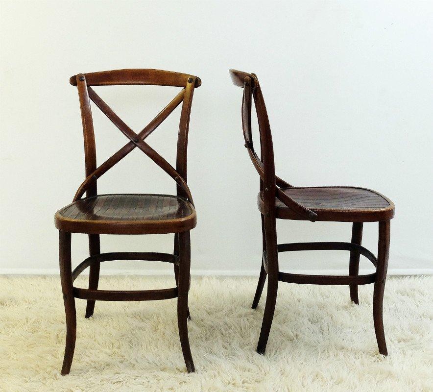 antike st hle von jacob josef kohn f r thonet 2er set. Black Bedroom Furniture Sets. Home Design Ideas