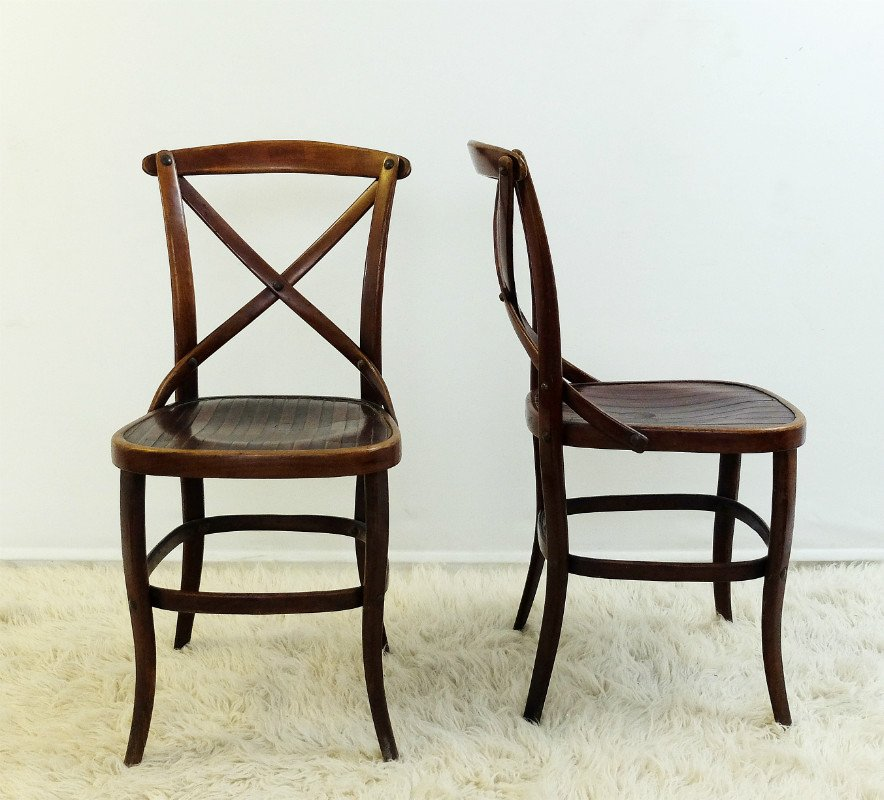 Antique Chairs by Jacob & Josef Kohn for Thonet, Set of 2 - Antique Chairs By Jacob & Josef Kohn For Thonet, Set Of 2 For Sale